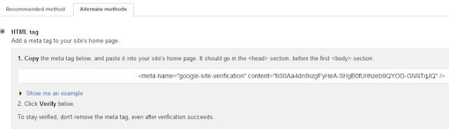 verifikasi meta tag webmaster tools google