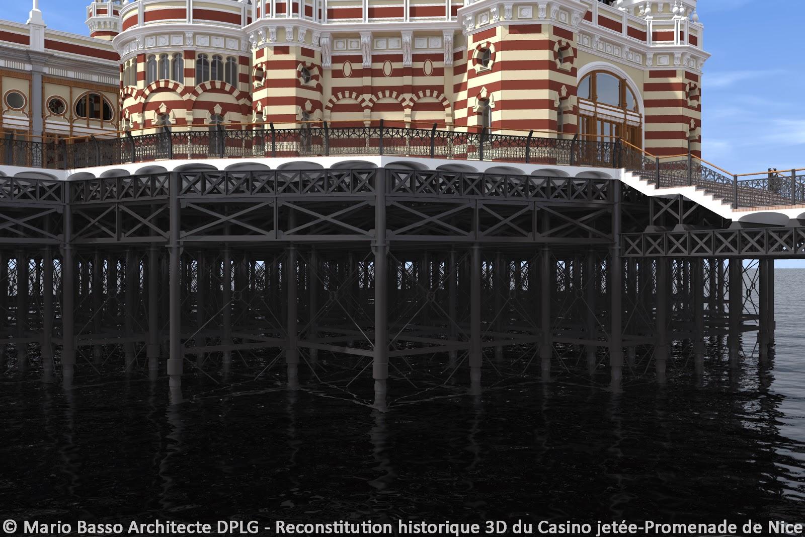 casino jetee promenade de nice en 3d plate forme et pilotis. Black Bedroom Furniture Sets. Home Design Ideas