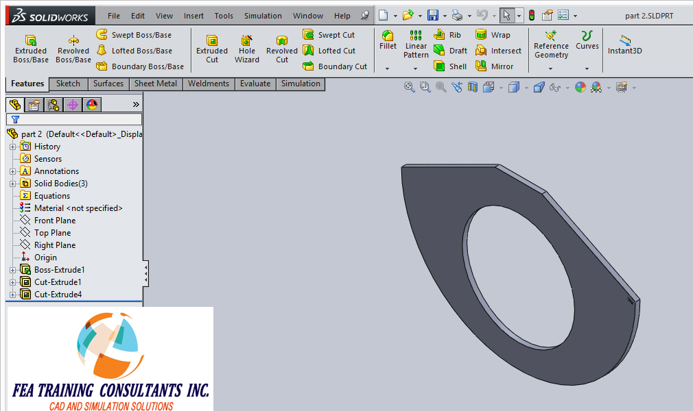 part modeling solidworks