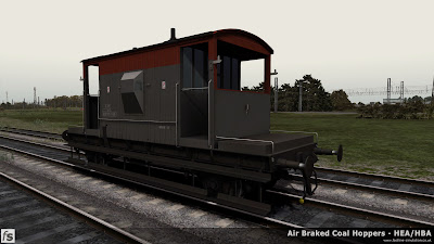 Fastline Simulation - Bonus Stock: A recently repainted dia 1/507 BR 20T brake van from lot 3227 built at Darlington in 1959 and subsequently modified to work with air braked trains. This version is one of a number of 20T brake vans included in our HBA/HEA hopper wagon expansion pack for Train Simulator 2014 to help add variety and authenticity to the scenarios in the pack. Initially released with the VDA vans pack the vans has had new materials applied to bring it in line with the CAO/CAP versions in the pack.