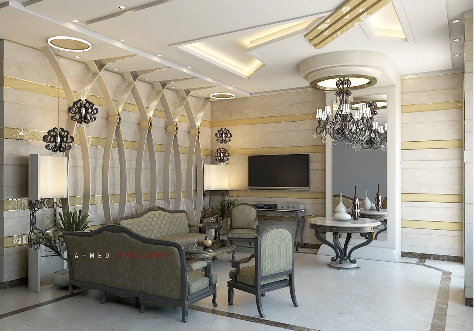 Banquet hall reception area download 3d house - Free Sketchup Model Vray Setting Reception Hall
