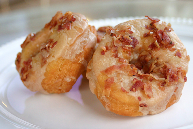 me and jilly: maple-bacon donuts