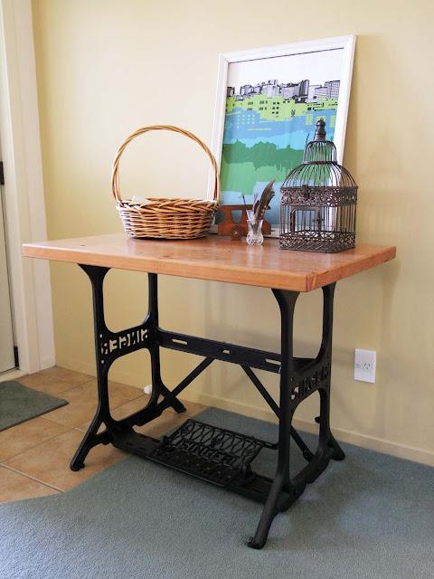 refurbished sewing machine tables