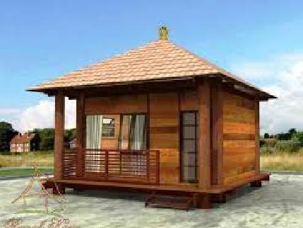 desain rumah sederhana bahan kayu ala pedesaan klasik modern