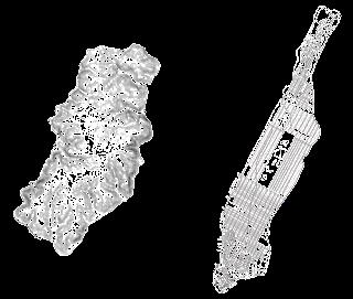 The scale comparison of Sisli district with Manhattan.