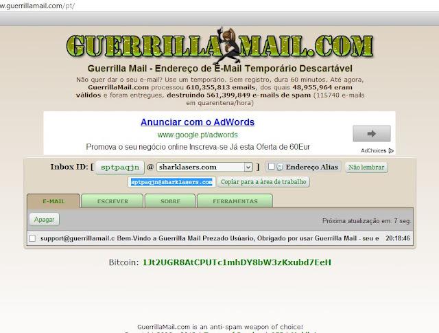 email temporario