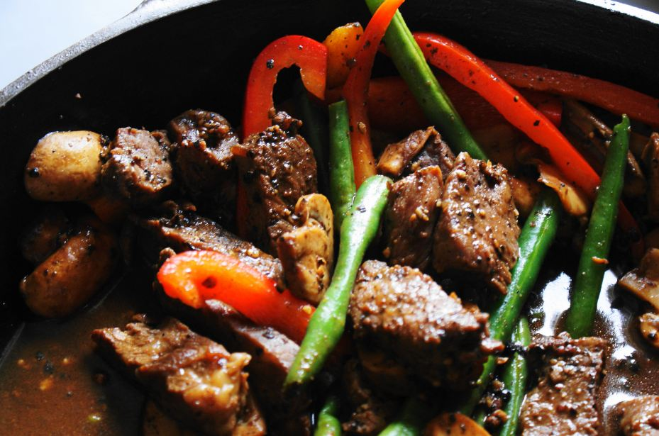 Pepper Steak Stir Fry Black Stir Fried Pepper Steak