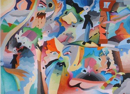 libro astratto dipinto pittura orme magiche quadro disegno pittura