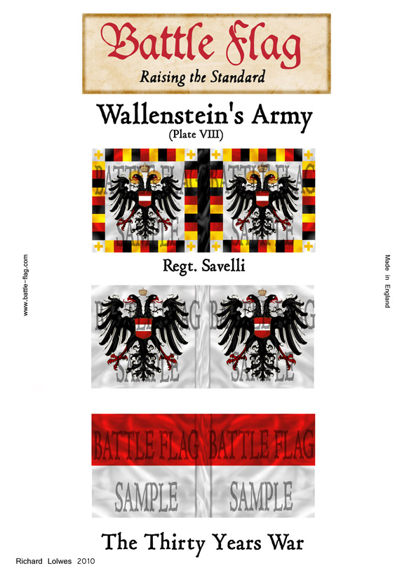 Swedish Thirty Years War Flags