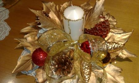 Adornos navide os - Centros navidenos con velas ...