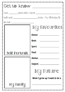 Down Under Teacher: Get to Know Me freebie
