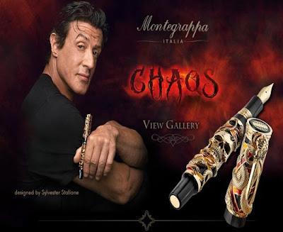 Canetas Montegrappa com Design assinado por Sylvester Stallone