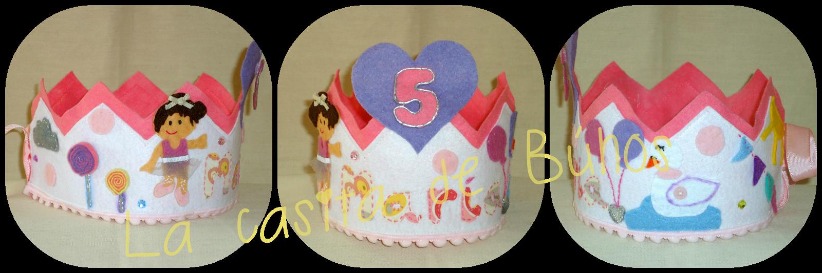 Corona cumpleaños ballet en fieltro - Felt ballet birthday crown