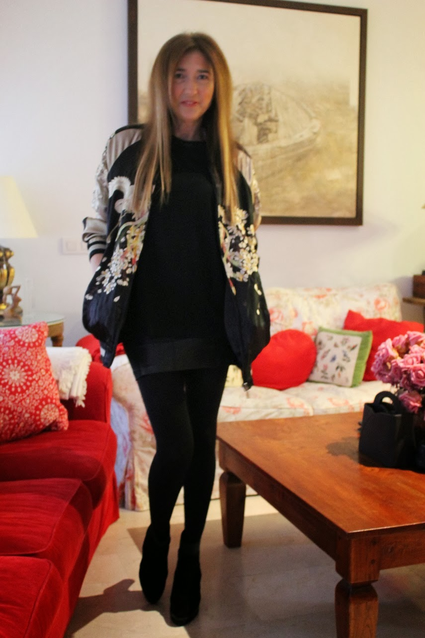 Bomber seda bordada, look, street style, fashion blogger, fashion style, Carmen Hummer