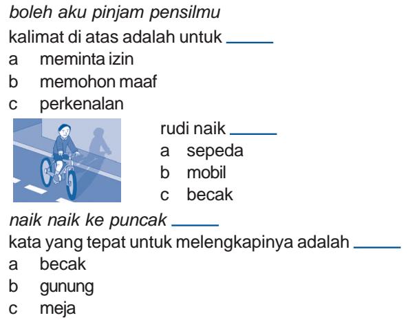 Soal Uas Bahasa Indonesia Kelas 1 Sd Semester 1 Ganjil Sekolah Al Madany Sekolah Al Madany