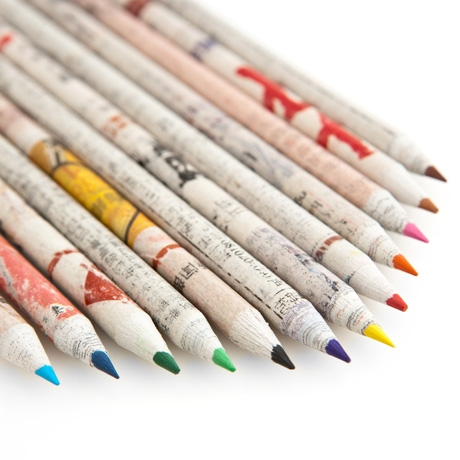 Letter Love: Recycled Paper Pencils