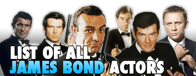 list james bond movies in order