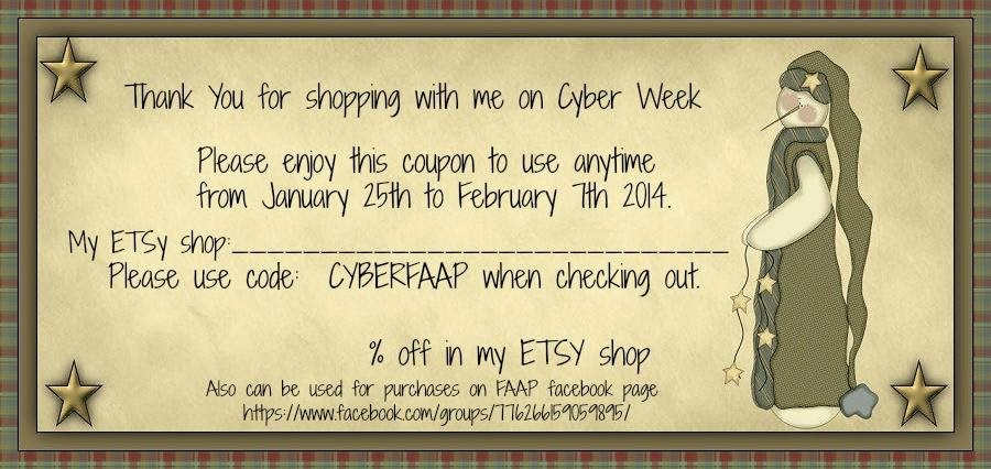 Folkart and Primitives CYBER Promotion