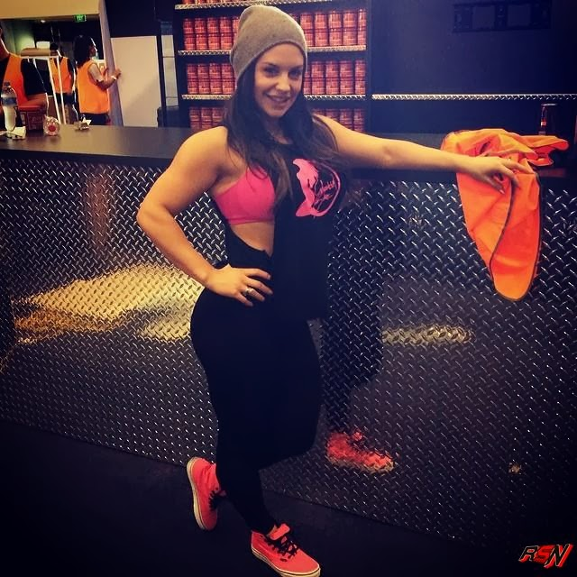 Photo Of Former WWE Diva Kaitlyn At The Gym.