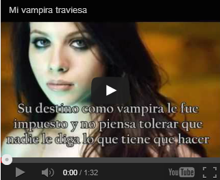 "Book-trailer ""Mi vampira traviesa"""