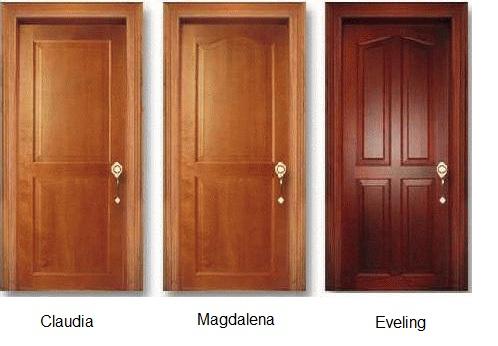 Puertas de madera s lida lolo morales furniture - Colores para puertas de madera ...