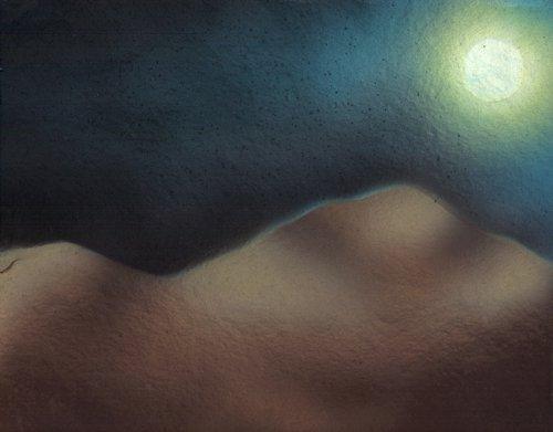 chiaro di luna dipinto pittura orme magiche quadro disegno pittura spirituale arte zen