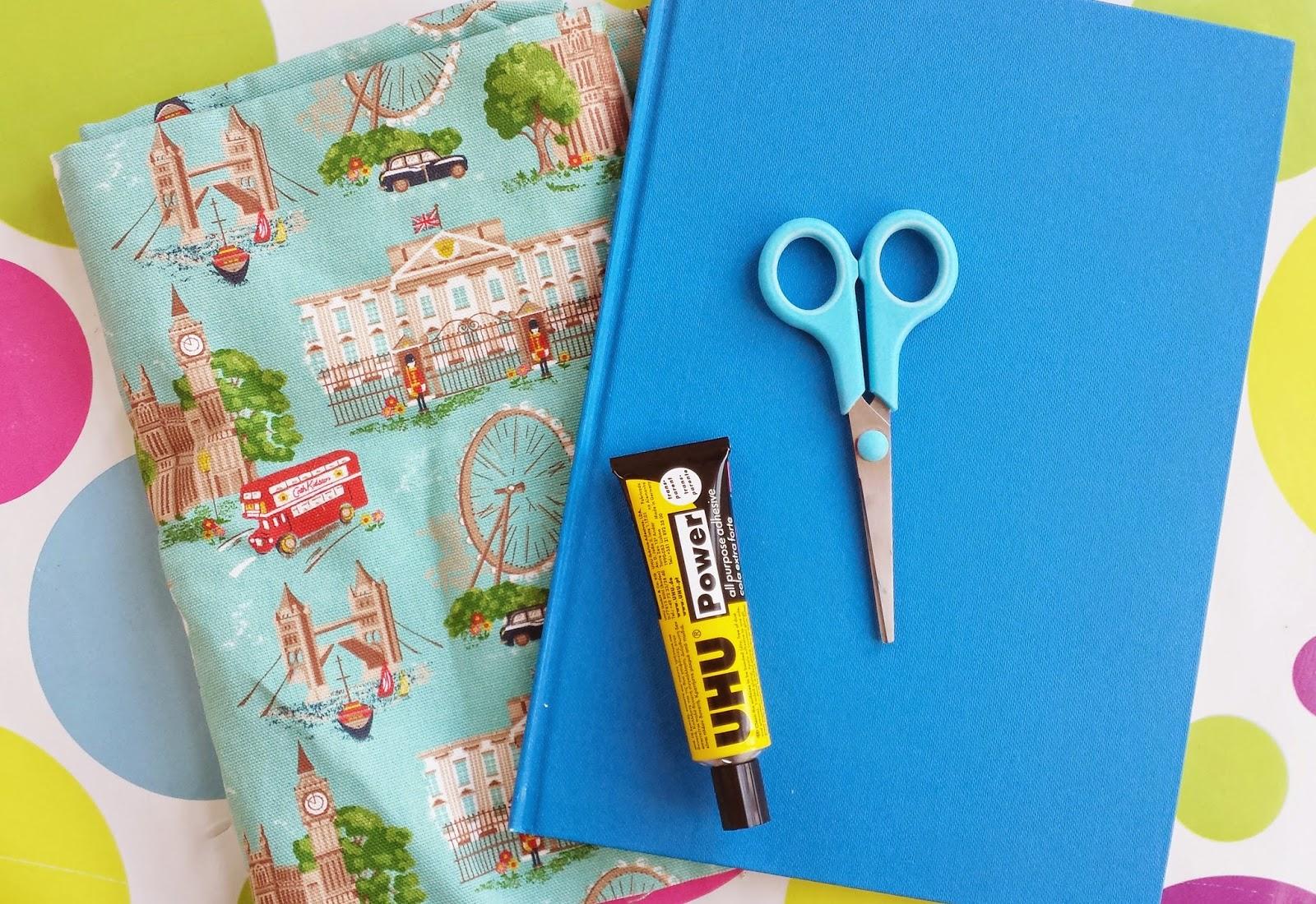 Tutorial como forrar un cuaderno con tela soy un mix - Como forrar muebles con tela ...