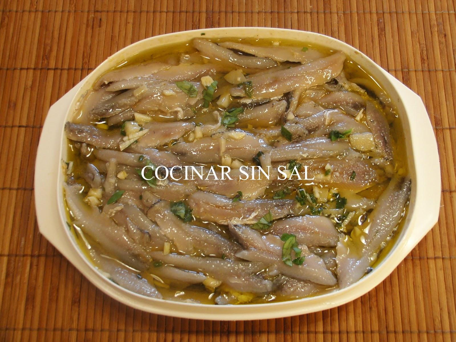 Cocinar sin sal boquerones en vinagre sin sal - Cocinar sin sal ...