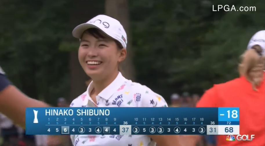 渋野日向子 笑顔と努力