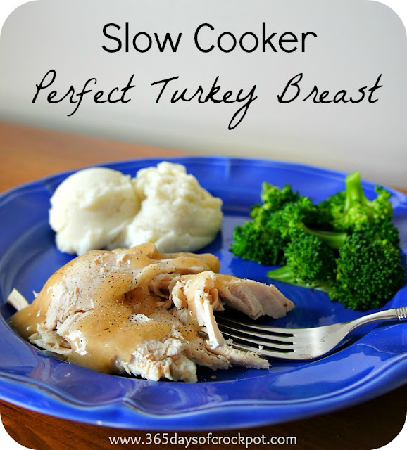 Recipe for Slow Cooker Perfectly Seasoned Turkey Breast #crockpot #turkey