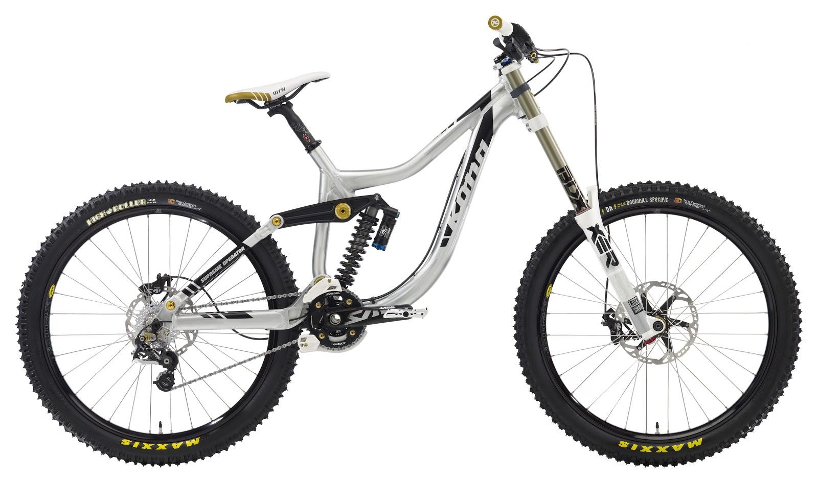 Kona supreme operator mountain bike 2012 with full for Suspension noir et blanc