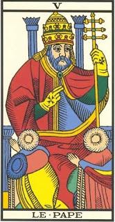 Arcano 5: O Hierofante/Papa. carta do tarô, tarot, baralho de marselha