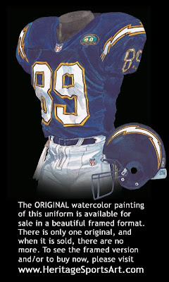 San Diego Chargers 2000 uniform