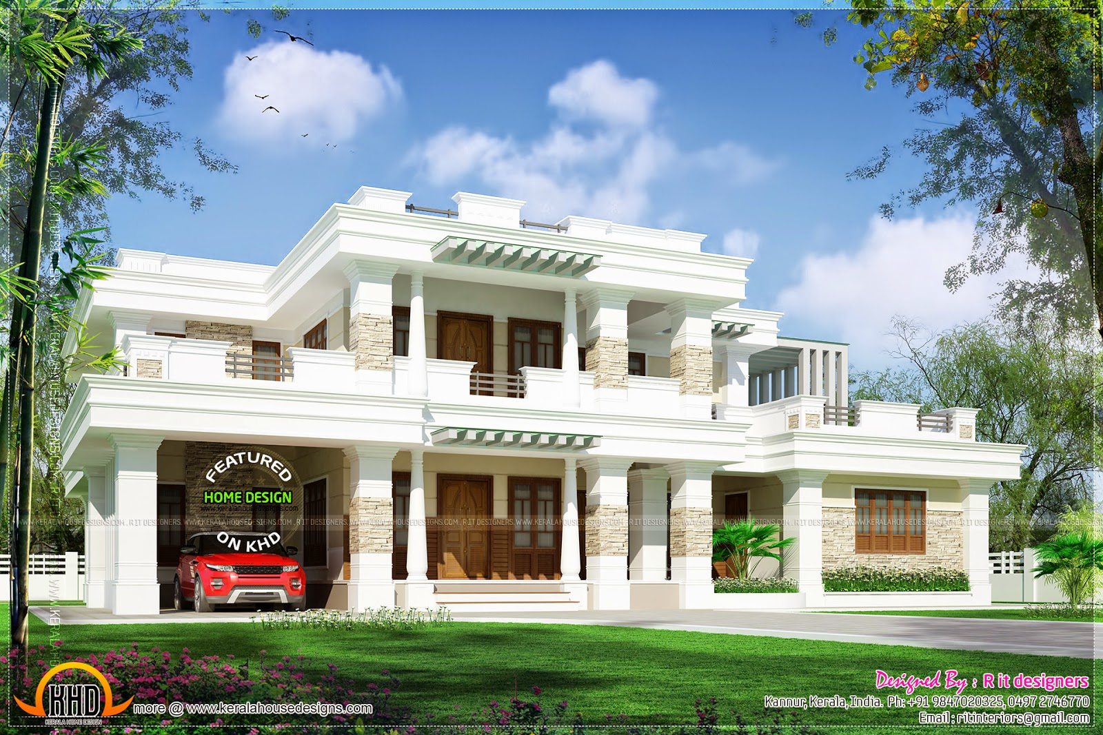 Square roof modern house kerala home design and floor plans for Modern square house