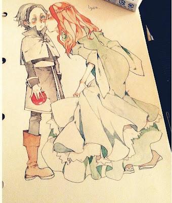 Lysa y Petyr dibujo - Juego de Tronos en los siete reinos