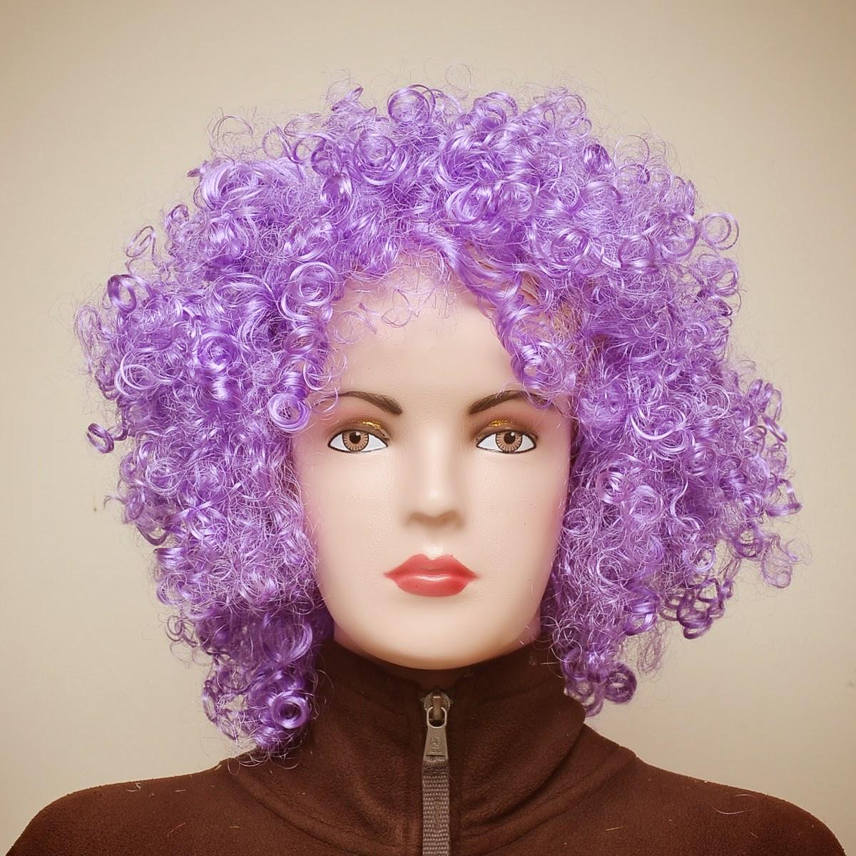 wig kribo warna warni
