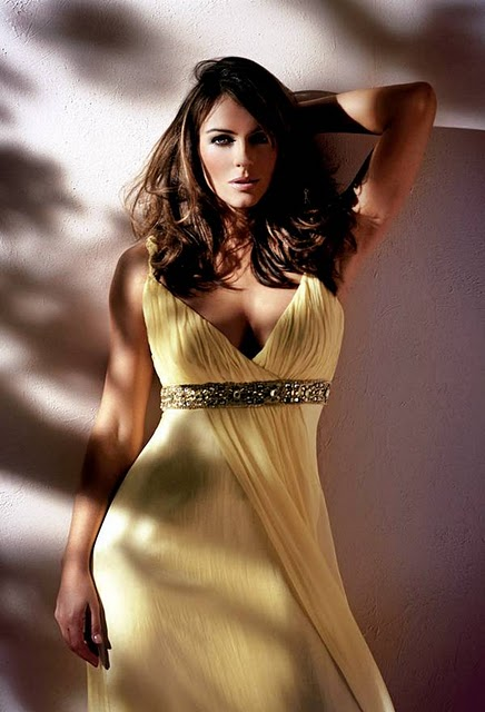 elizabeth hurley clothing line modeling photoshoot