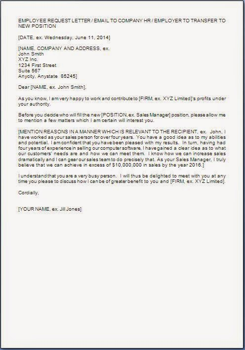 Job Transfer Letter Sample Sample Letter With Lucy Jordan Sample