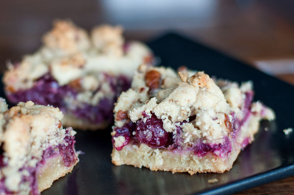... . Her Cranberry Crumb Bars with Pecans and Rosemary look amazing