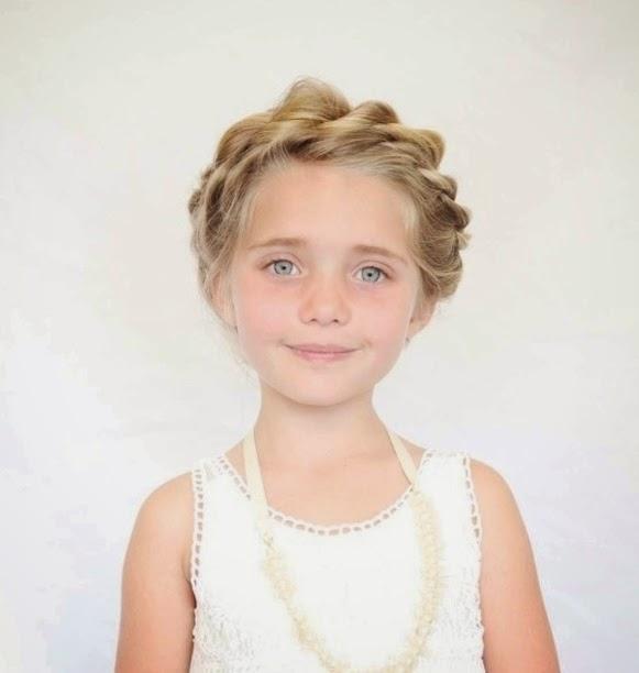 Peinados niña faciles - corona romantica