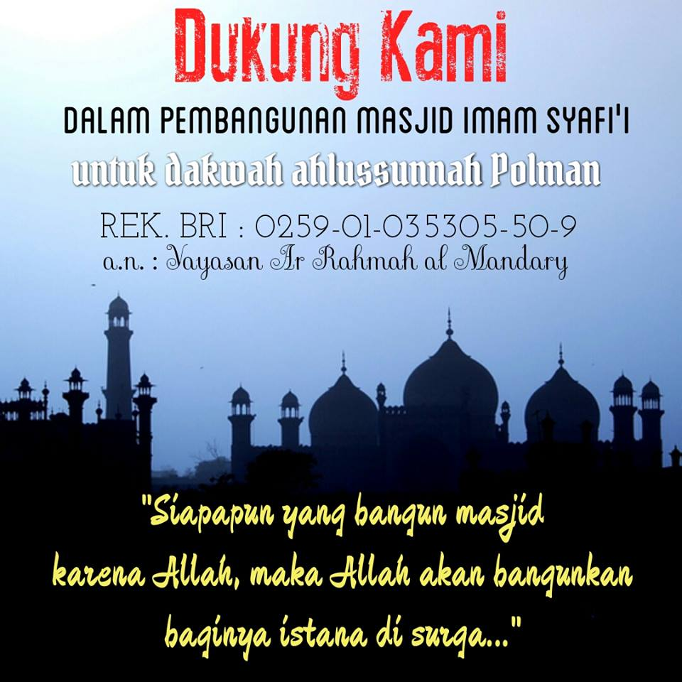 Donasi Masjid Imam Syafi'i Polman
