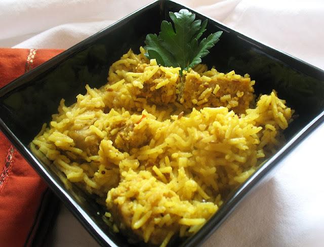 Basmati Rice Spiked with Chickpea Flour Dumplings