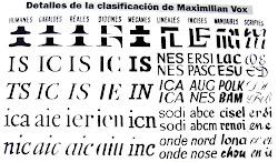 Clasificación de Vox,1954.