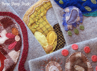 Paisley Wool Applique