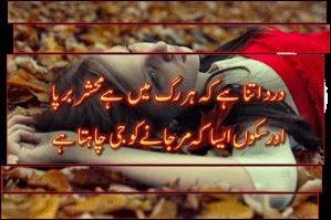 Dard SMS Shayari In Urdu 2014