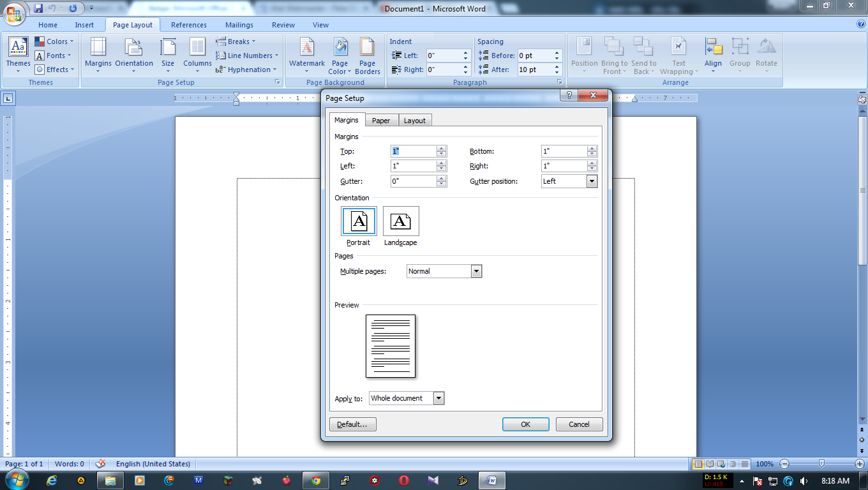 Belajar Mengatur Lembar Kerja Microsoft Word