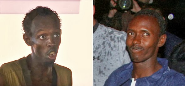 Barkhad Abdi vs. the real Abdulwali Muse of Captain Phillips