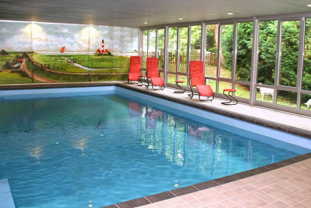 Schwimmbad (Hallenbad) mit Aussicht, Dünenhotel-Eulenhof St. Peter-Ording-BAD