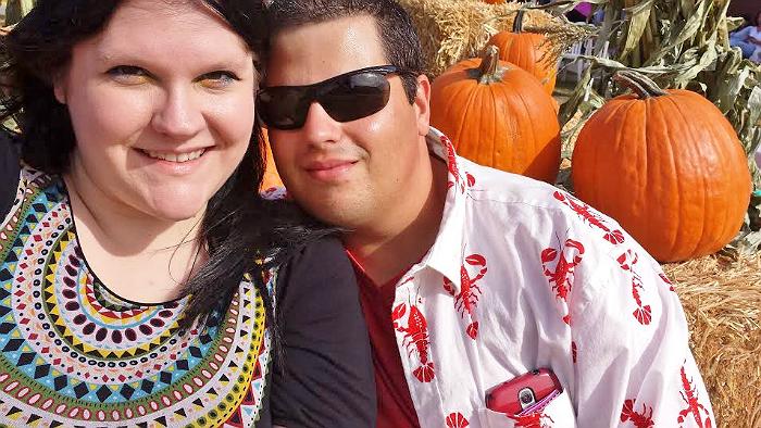Fall harvest festival selfie.
