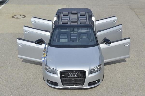Audi fabricó un A3 de ocho plazas para pasar por su planta de Inglostad